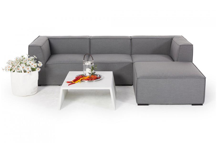 Gartenlounge Allwetter Lounge Emma Grau