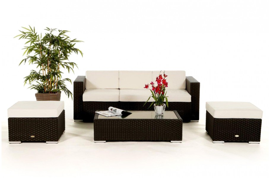 das gartenm bel set starlight lounge in braun f r. Black Bedroom Furniture Sets. Home Design Ideas