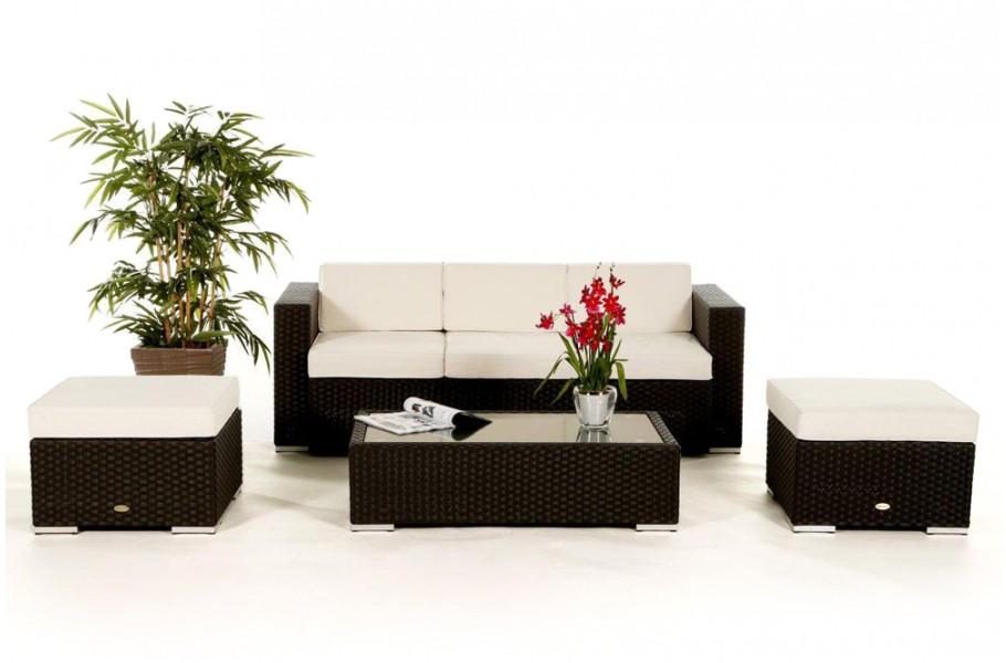 das gartenm bel set starlight lounge in schwarz f r terrasse garten oder balkon geeignet. Black Bedroom Furniture Sets. Home Design Ideas