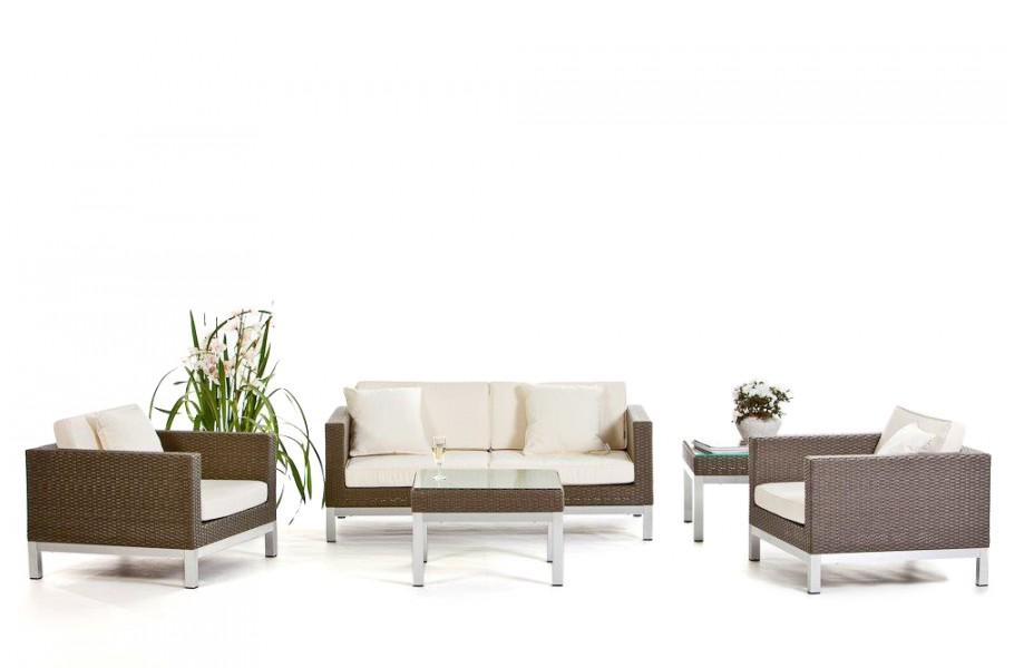 Rattan Lounge Sunshine - Das Gartenmöbel Set für Terrasse und Garten