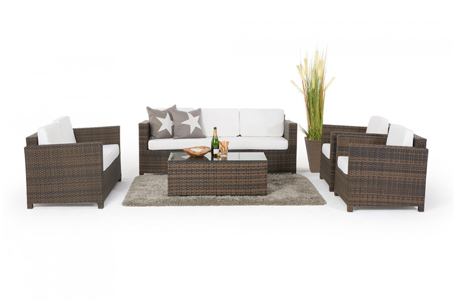 rattan gartenlounge westham lounge braun. Black Bedroom Furniture Sets. Home Design Ideas