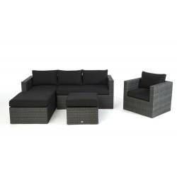 rattan lounge brooklyn das gartenm bel set f r terrasse und garten. Black Bedroom Furniture Sets. Home Design Ideas