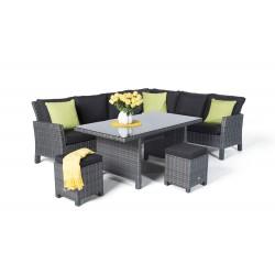 rattan lounge dining rattan eckbank rattan sitzgruppe. Black Bedroom Furniture Sets. Home Design Ideas