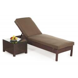adria rattan liege sonnenliege liegestuhl braun. Black Bedroom Furniture Sets. Home Design Ideas