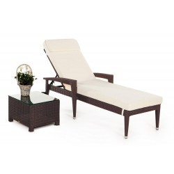 rattan liege sonnenliege liegestuhl florenz braun. Black Bedroom Furniture Sets. Home Design Ideas