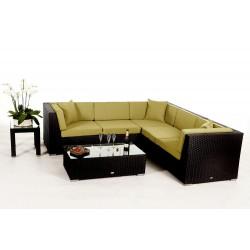 Rattan gartenmöbel lounge  Shangrila Lounge in Schwarz - Rattan Gartenmöbel Set für Terrasse ...