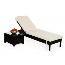 adria rattan liege sonnenliege liegestuhl schwarz. Black Bedroom Furniture Sets. Home Design Ideas