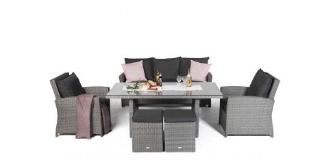 rattantisch lounge set. Black Bedroom Furniture Sets. Home Design Ideas