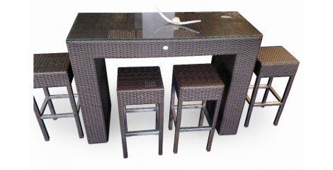 rattan bar rattanm bel gartenm bel barhocker. Black Bedroom Furniture Sets. Home Design Ideas