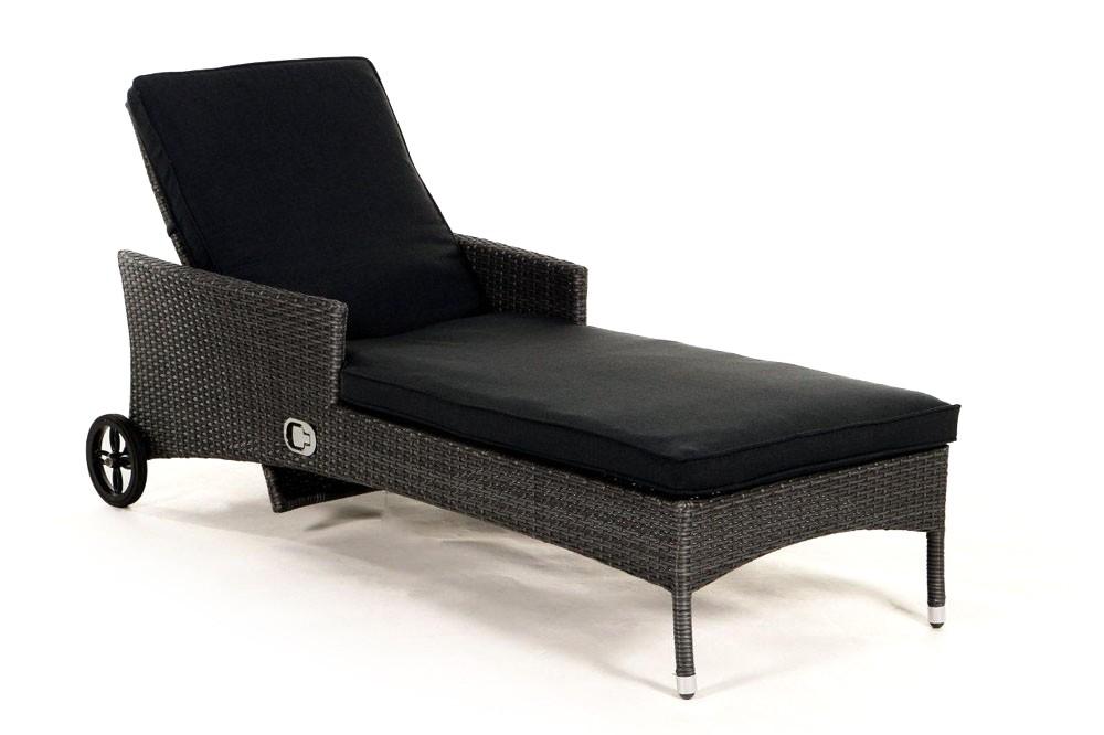 Chaise longue en rotin brroklyn gris m lang - Chaise en rotin gris ...
