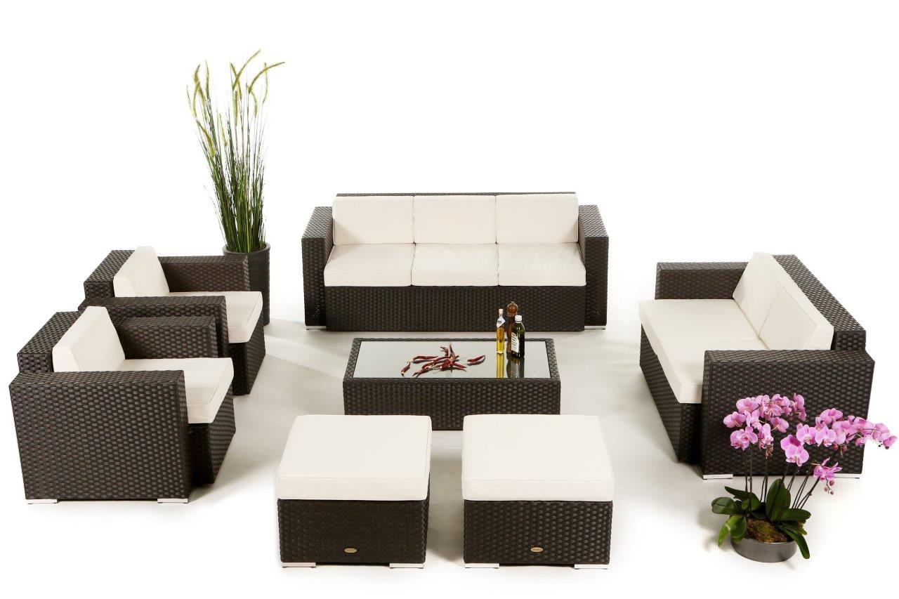 Set de meubles de jardin en rotin Diana
