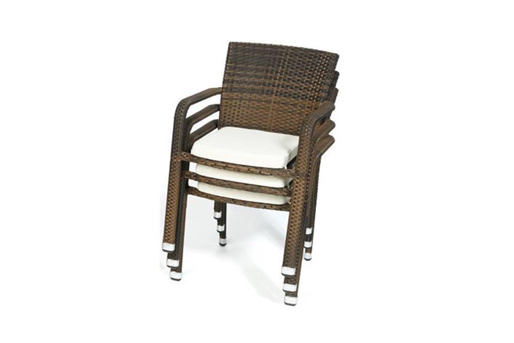 Gartenmobel Polyrattan Lutz : Balcony & Orlando set table et chaises en rotin brun mélangé