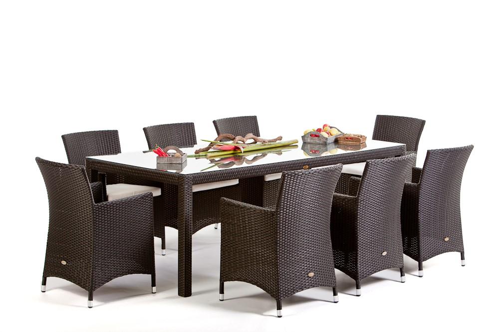 Meubles de jardin en rotin table et chaises Nairobi Dining 220 ...