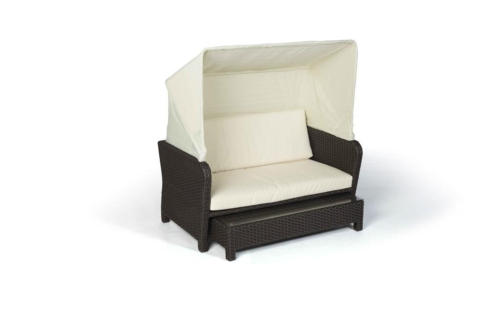 Gartenmobel Polyrattan Lutz : Lorena meuble en rotin chaise longue brune