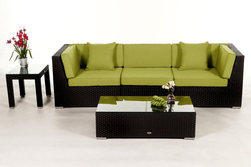 Le set de meubles de jardin en rotin idéal pour le balcon, la ...