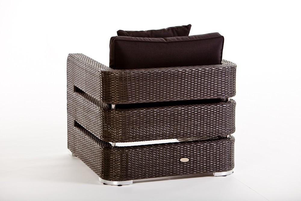Gartenmobel Polyrattan Lutz : Meubles de jardin Lounge Kennedy noir  fauteuil