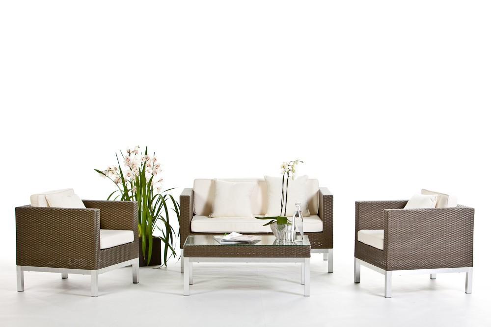 Gartenmobel Polyrattan Lutz : Lounge de jardin Opera avec tressage légèrement rugueux