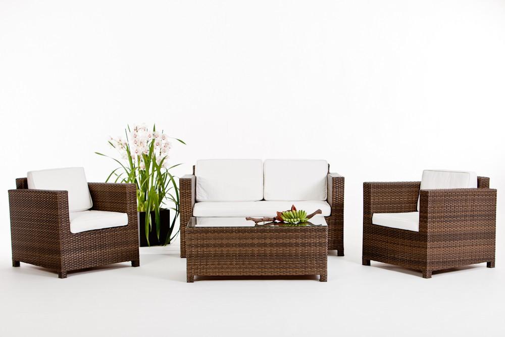Meubles de jardin lounge Luxury de couleur brune