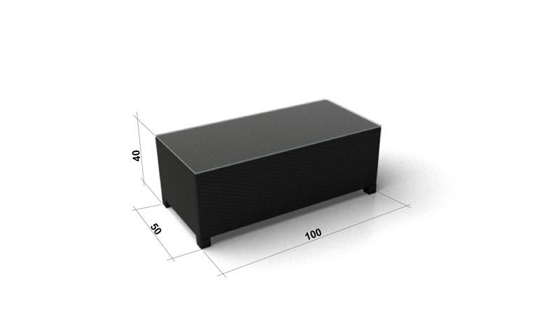 ... Salon De Jardin En Rotin Luxury Banc Avec Plaque En Verre Noir 3D