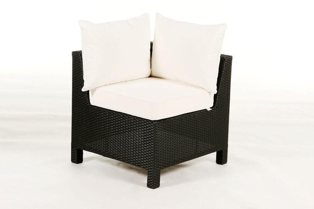 Gartenmobel Polyrattan Lutz : Lounge de jardin en rotin Pandora noir  élément dangle