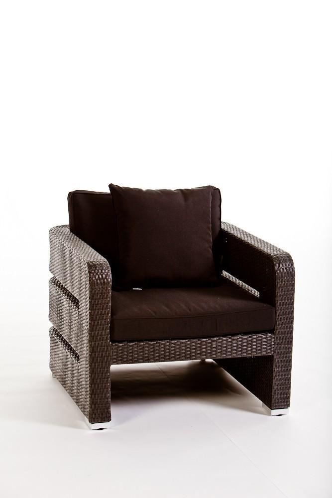 Lounge de jardin en rotin kennedy noir for Meubles jardin lausanne