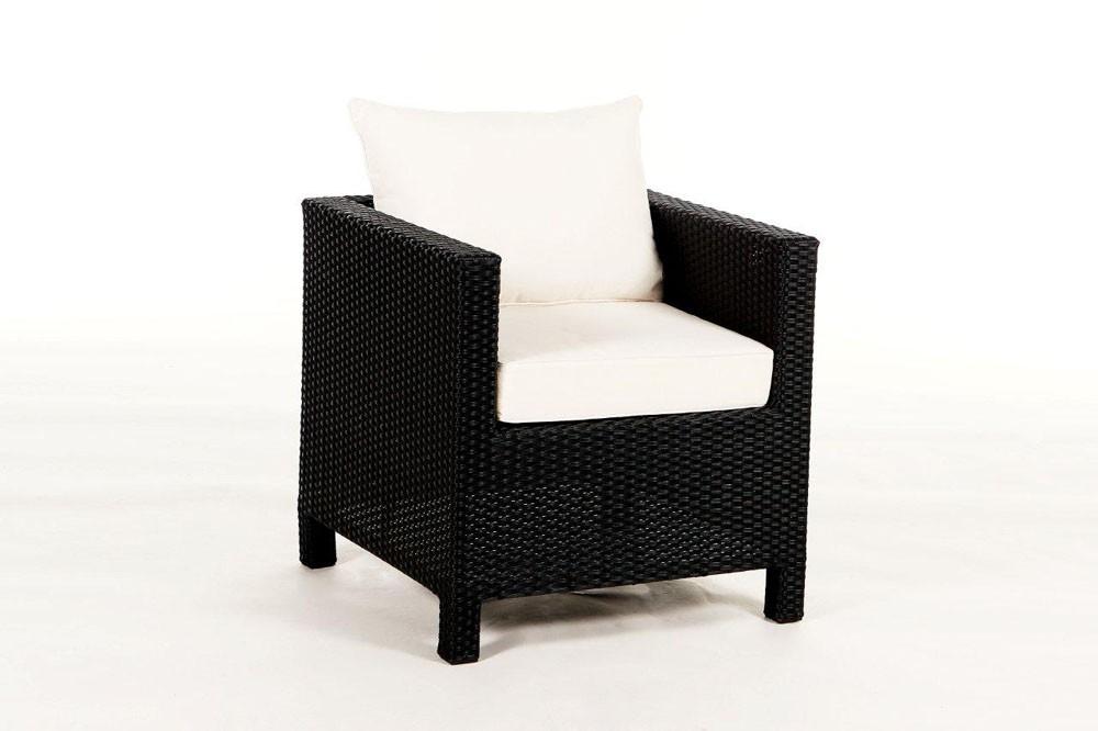 Pandora lounge de jardin en rotin noir for Meubles jardin lausanne