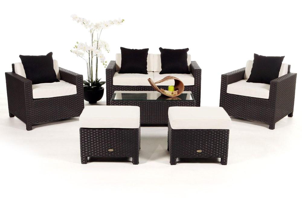 Meubles de jardin en rotin lounge Royal brun