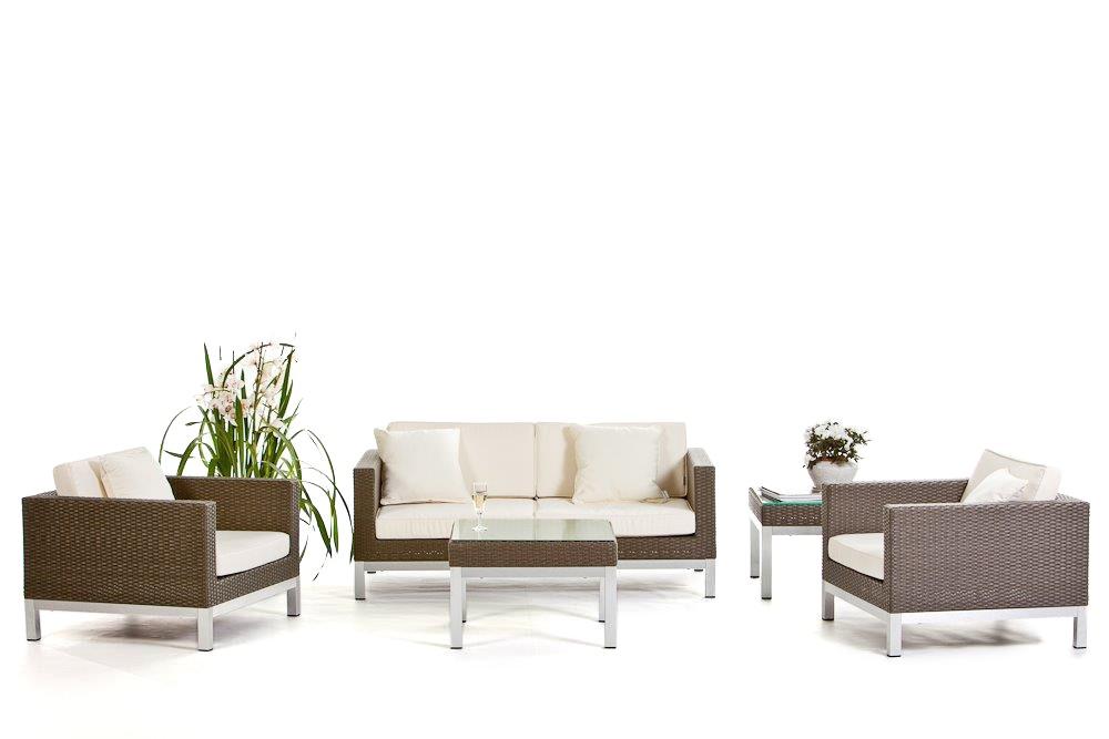 Lounge en rotin sunshine le set pour le balcon le for Meubles jardin lausanne