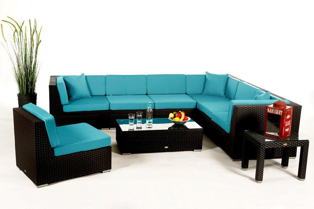 bermuda rattan lounge - rattan garden furniture - seat cushion covers,
