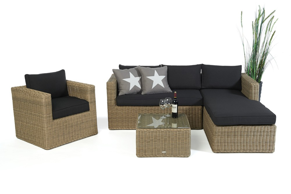 Zebra Gartenmobel Lagerverkauf : Brooklyn Rattan Round Lounge  Garden furniture set for your balcony
