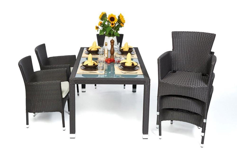 Garden furniture california rattan garden dining set in for Gartenmobel dining set