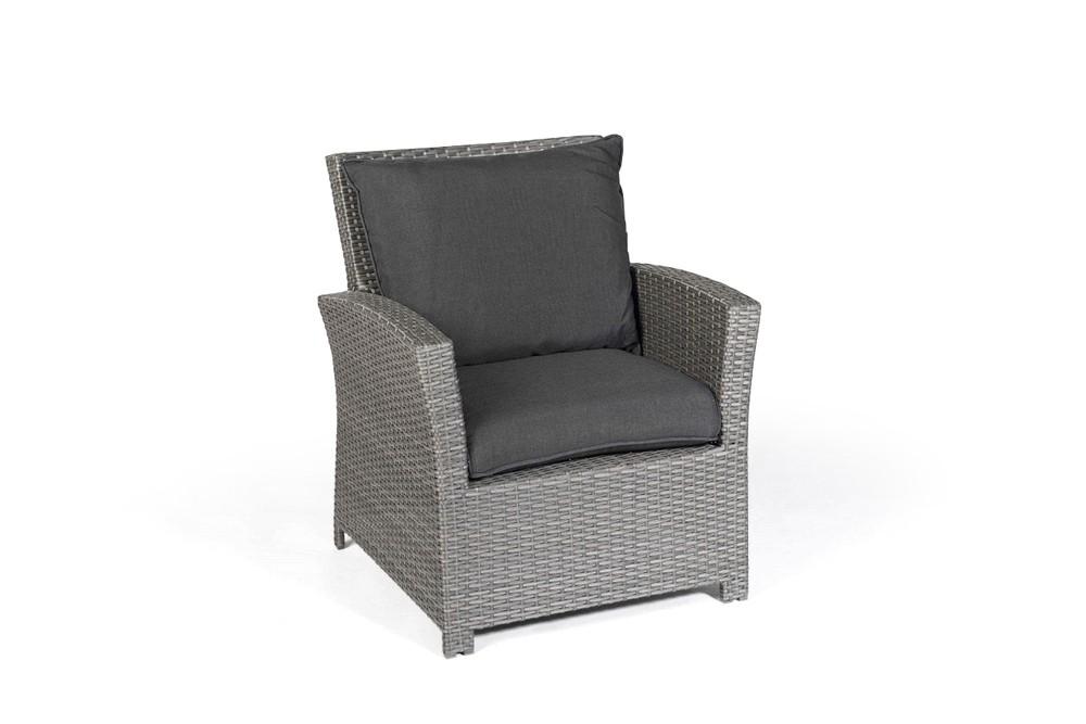 Ellis rattan garden furniture dining lounge in mixed grey - Gartenmobel rattan lounge set ...