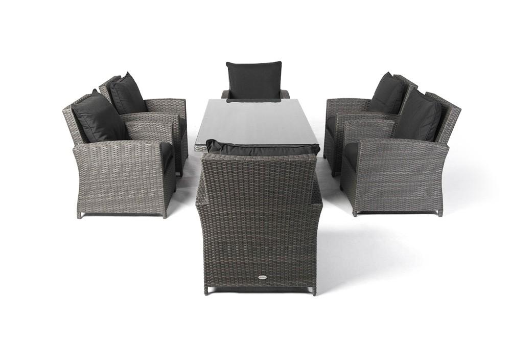 ellis rattan garden furniture dining lounge in mixed grey. Black Bedroom Furniture Sets. Home Design Ideas