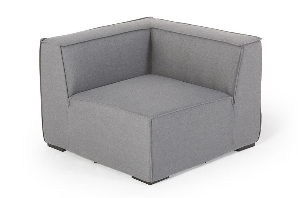 Gartenlounge rattan weiss  allweather lounge - sunbrella fabric - emma - grey