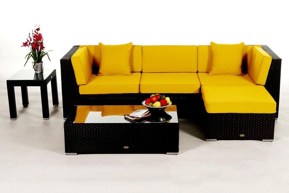 Alte Franzosische Gartenmobel : Black lounge  rattan garden furniture for your terrace, garden or