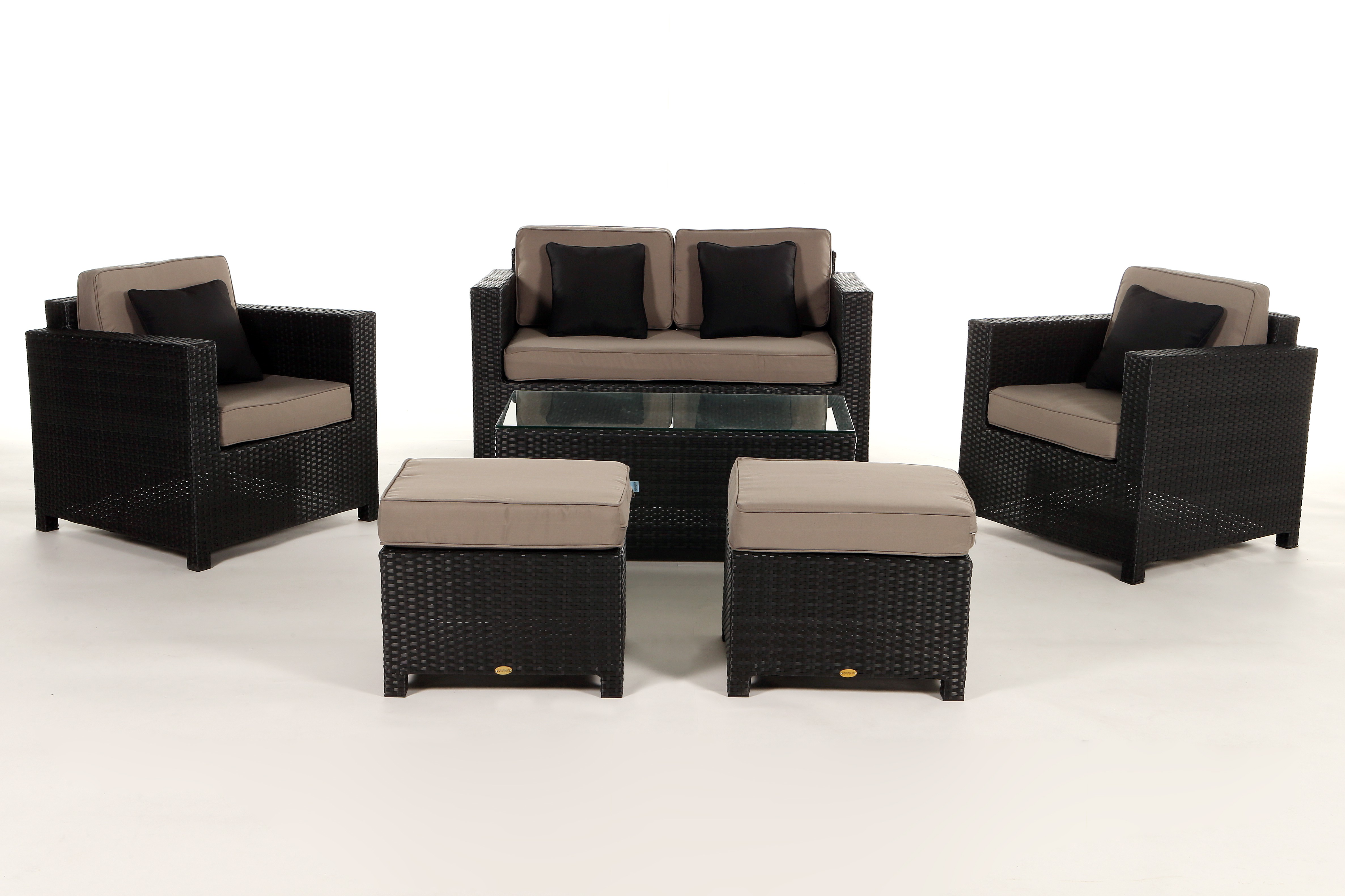 Rattan lounge schwarz  Black Luxury Deluxe Lounge - rattan garden furniture for your ...