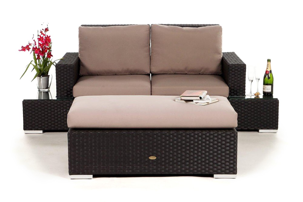 Gartenmöbel rattan set  Media Luna Rattan Lounge, brown- rattan garden furniture for your ...
