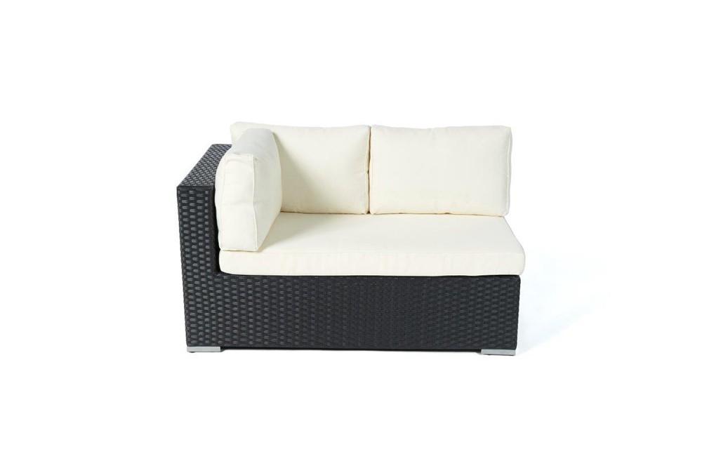 Milano rattan lounge black rattan garden furniture for for Rattan ecksofa