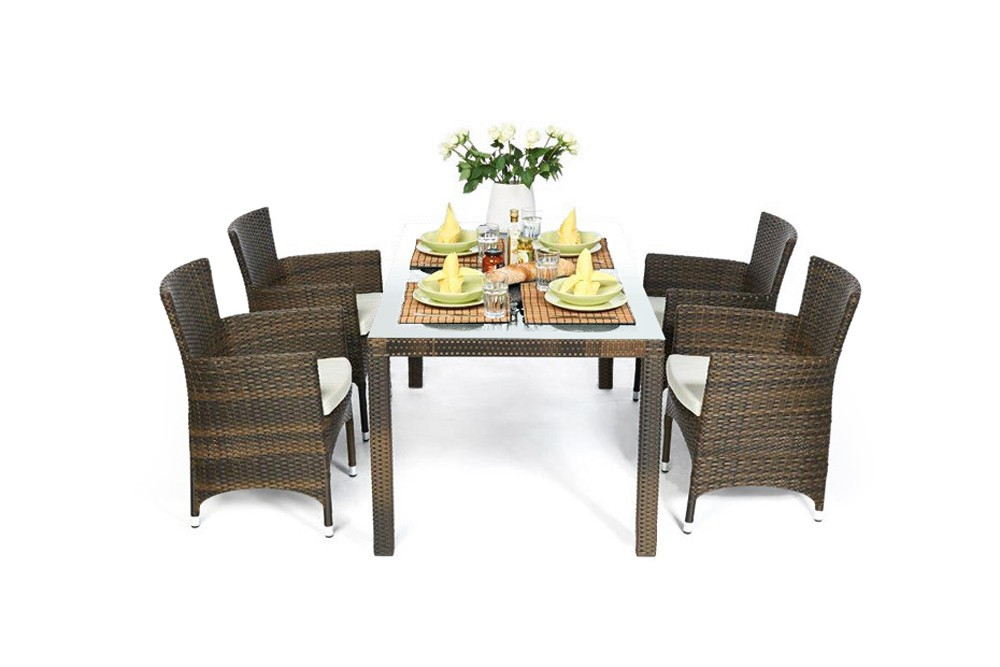 garden furniture nairobi rattan garden dining set in mixed brown. Black Bedroom Furniture Sets. Home Design Ideas