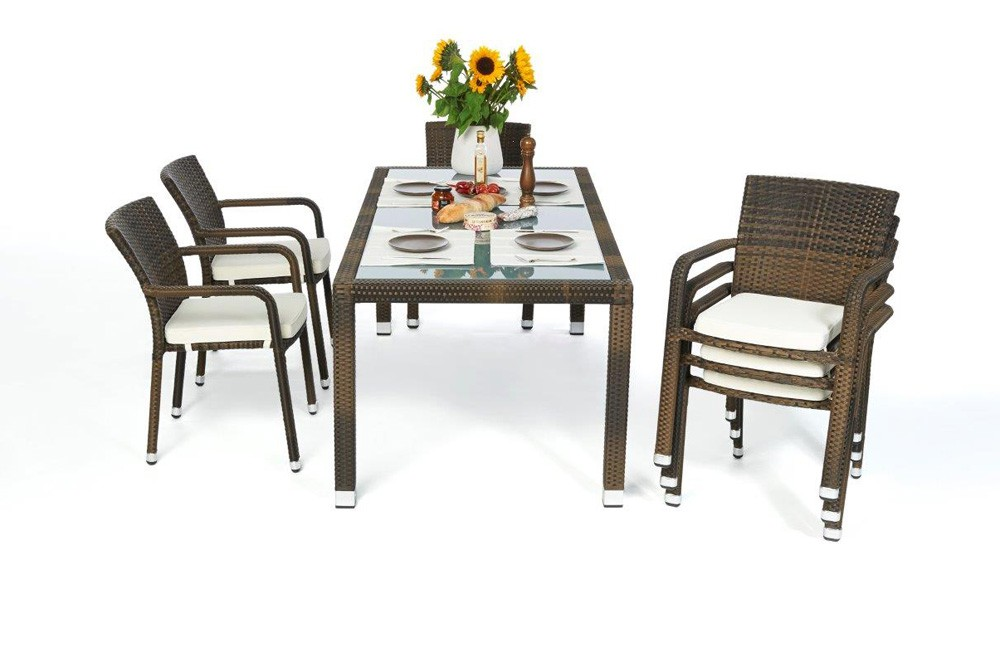 garden furniture orlando rattan garden dining set 180. Black Bedroom Furniture Sets. Home Design Ideas