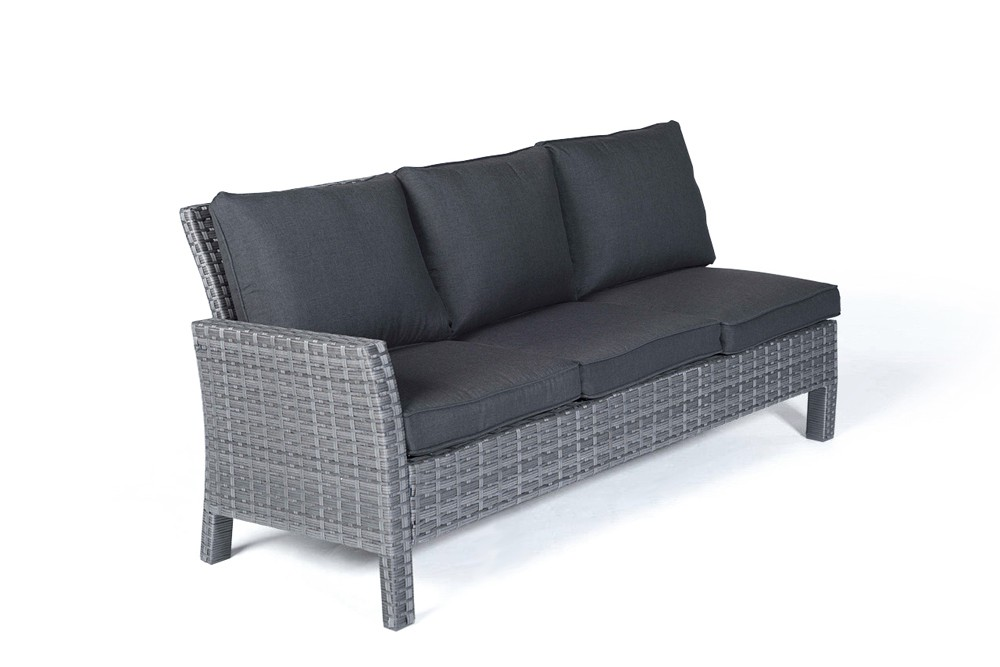 Paddington Rattan Garden Furniture Dining Lounge in Mixed Grey