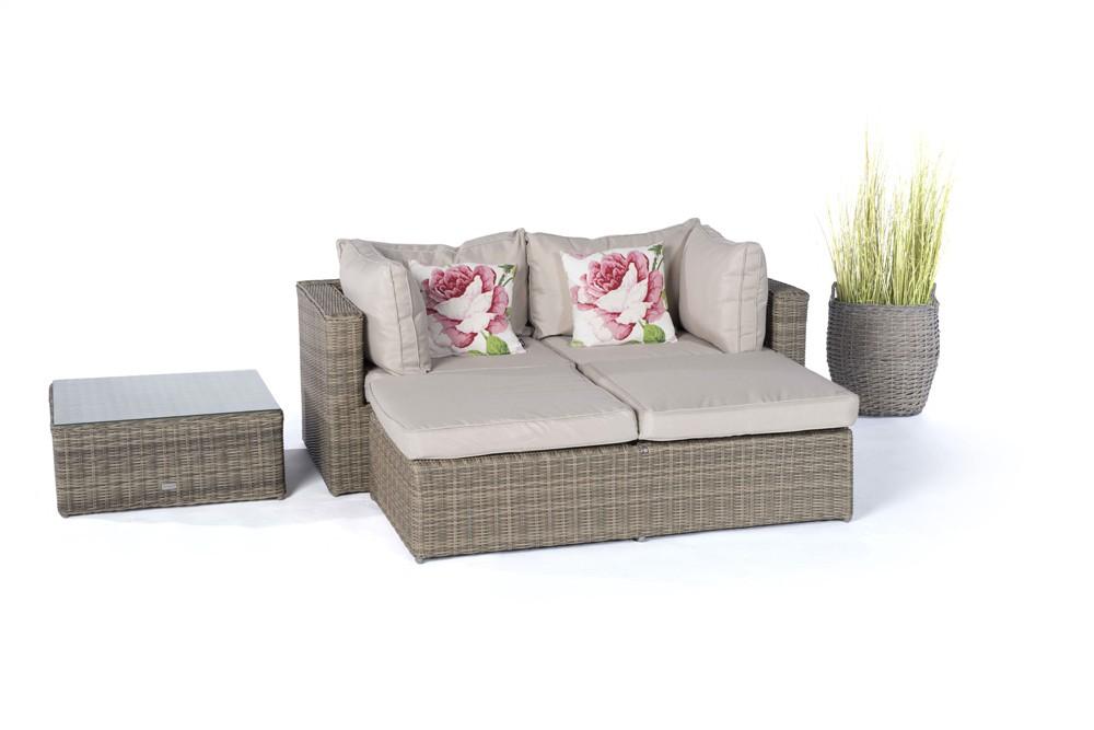 panda rattan round lounge natural rattan garden. Black Bedroom Furniture Sets. Home Design Ideas