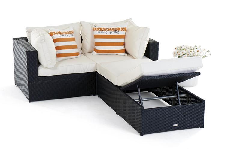 panda rattan lounge, black- rattan garden furniture for your,
