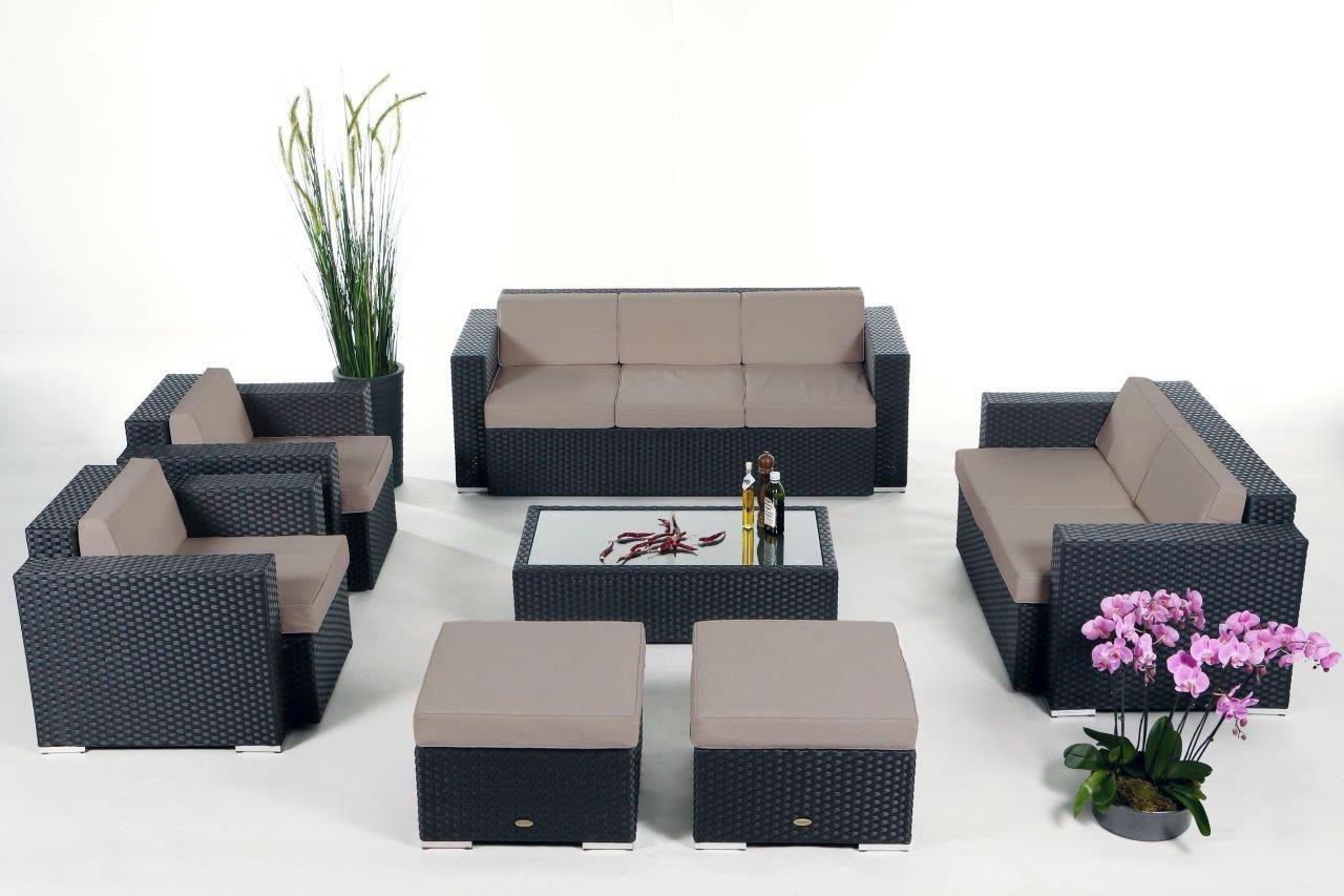 diana rattan lounge black rattan garden furniture for your terrace garden or balcony. Black Bedroom Furniture Sets. Home Design Ideas