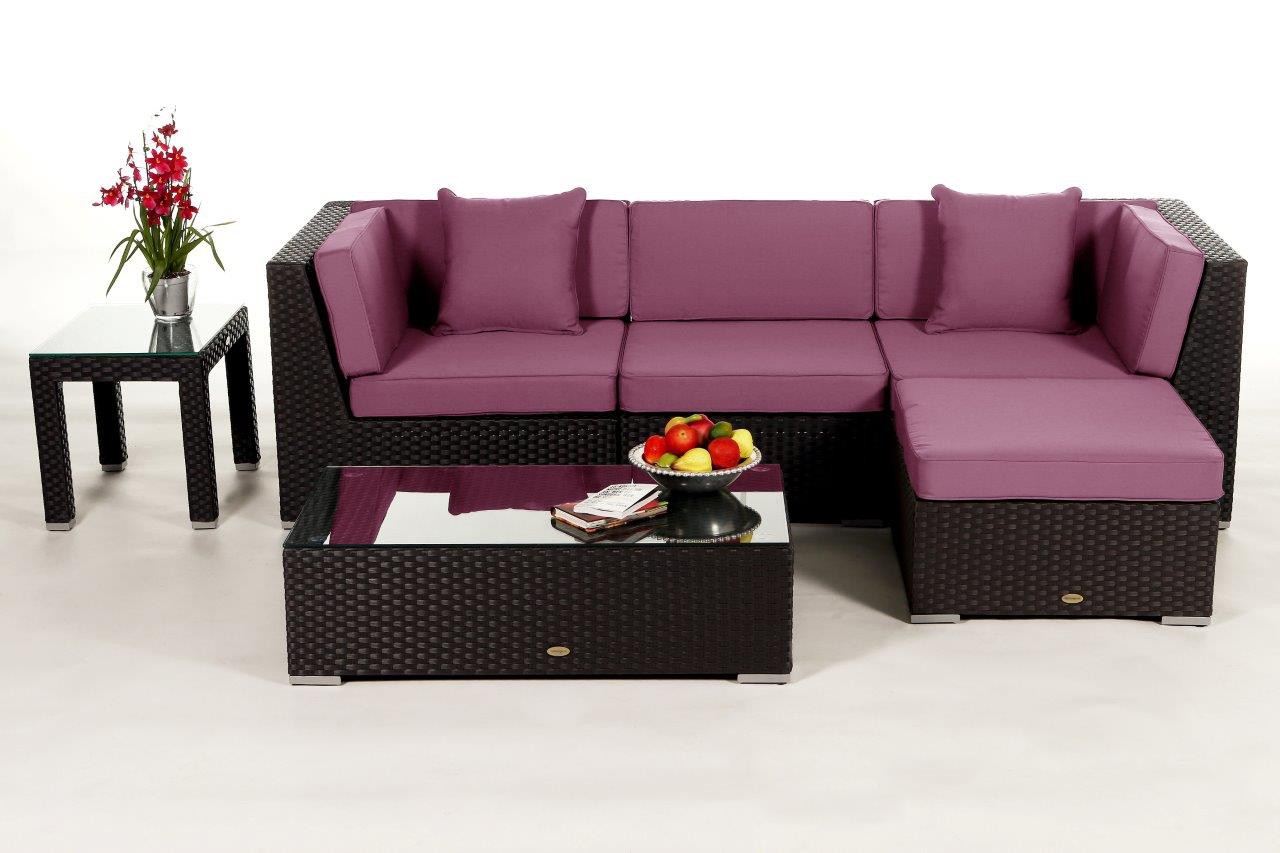 Rattan lounge braun  Dark brown lounge - rattan garden furniture for your terrace ...