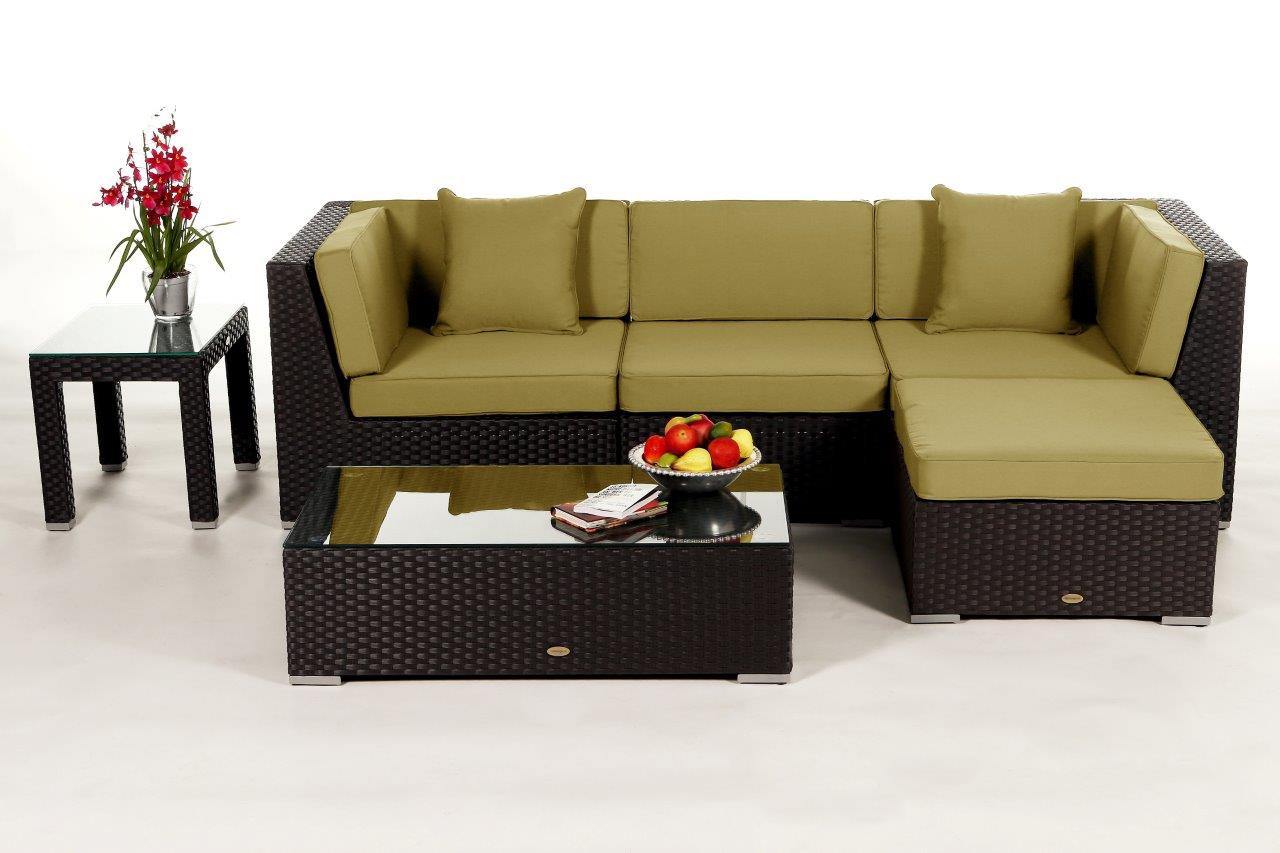 Dark brown lounge - rattan garden furniture for your ...