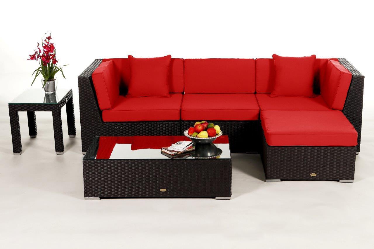 dark brown lounge - rattan garden furniture for your terrace, Garten und Bauen