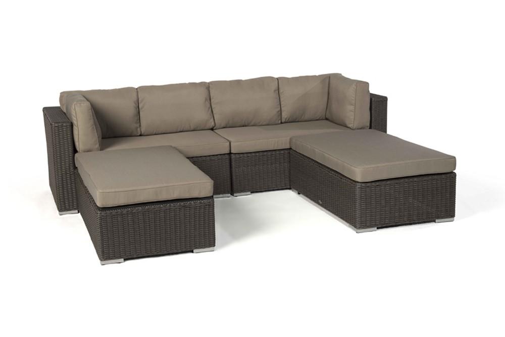 milano rattan round lounge set in brown, Garten und Bauen