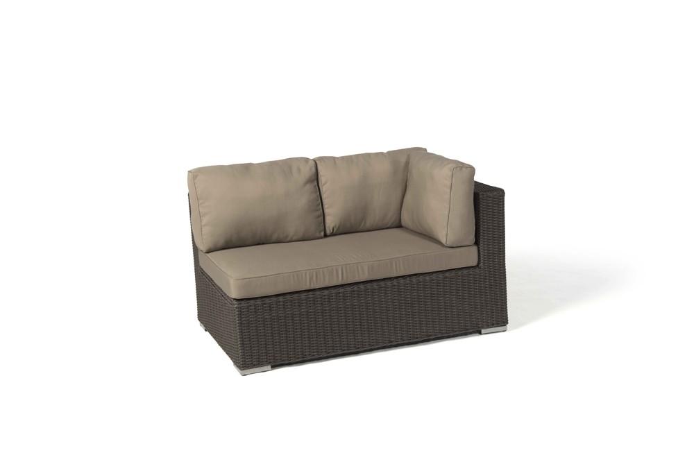 Gartenmöbel set rattan lounge  Milano Rattan Round Lounge Set in Brown