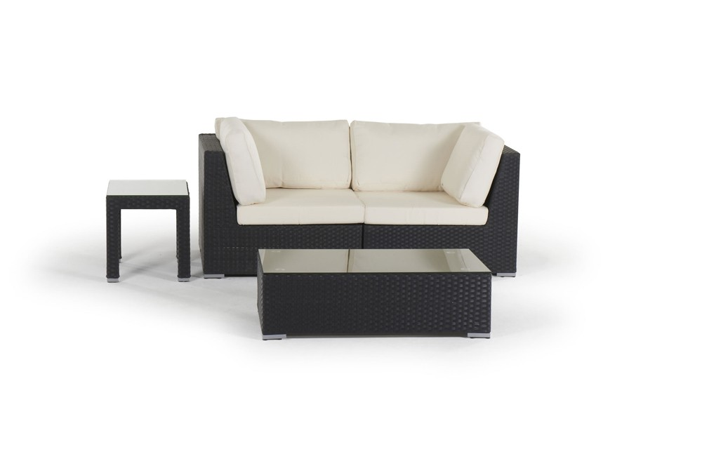polyrattan lounge set schwarz, sunset rattan lounge in black- rattan garden furniture for your, Design ideen